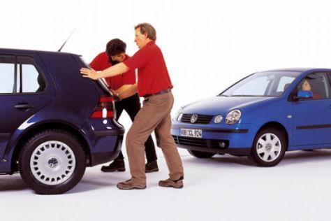VW Polo gegen VW Golf