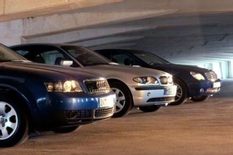 Audi A4 2.0 gegen BMW 318i und Mercedes C 180