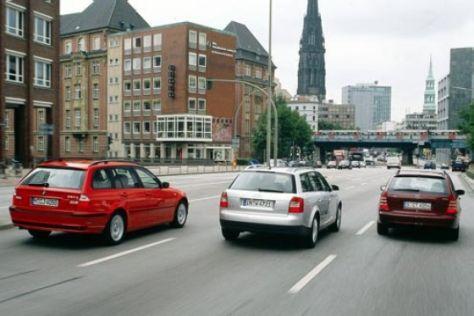 Audi A4 Avant gegen BMW 3er und C-Klasse