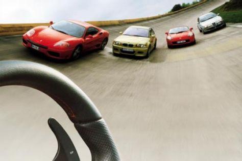 Sportwagen mit Lenkradschaltung