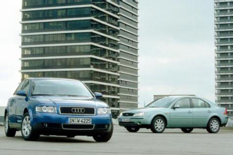Audi A4 2.0 gegen Ford Mondeo 2.0