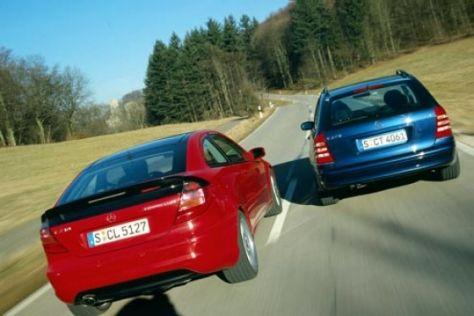 Mercedes Sportcoupé und C 270 CDI T-Modell