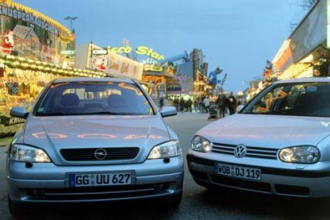 Opel Astra 2.0 DTI 16V gegen VW Golf 1.9 TDI