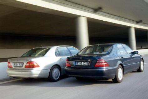 Mercedes S 430 gegen Lexus LS430