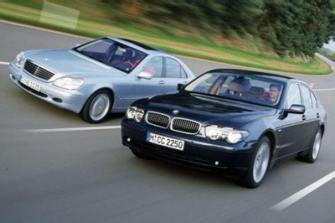 BMW 745i gegen Mercedes S 500