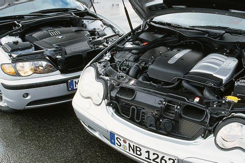 Der BMW-Motor bietet die beste Kraftentfaltung zwischen 1700 und 2500 Touren. Der CDI legt früher los als der 318d, schon knapp über 1000 Touren tritt er richtig an.