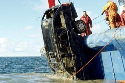 Wrackfischen in der Nordsee