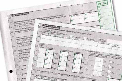 Steuererklärung für 2001