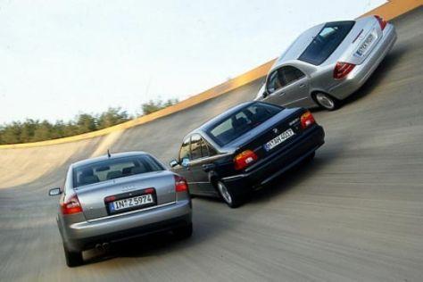 Neue E-Klasse gegen Audi A6 und BMW 5er
