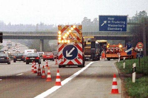 Baustellenflut auf Autobahnen