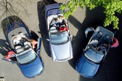 Audi A4 Cabrio, Mercedes CLK, BMW 320 Ci