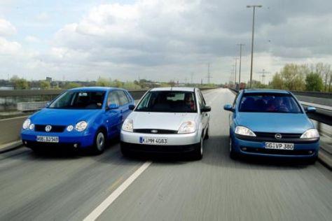 Ford Fiesta gegen Opel Corsa und VW Polo