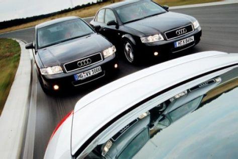 Drei getunte Audi A4 TDI