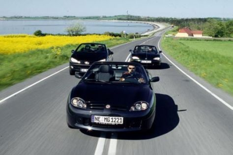 MX-5 gegen MG-TF und Peugeot 206 CC