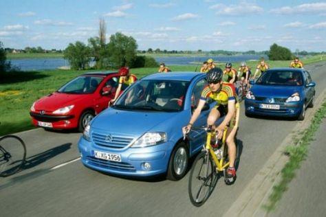 Vergleich Renault Clio, Peugeot 206, Citroën C3