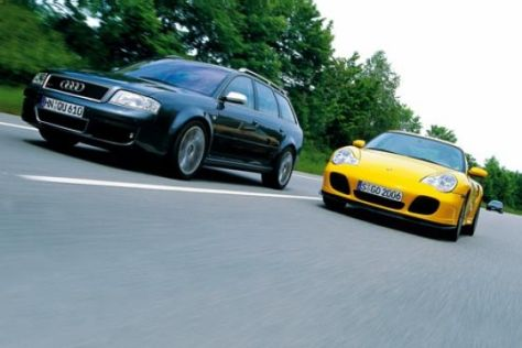 Audi RS 6 gegen Porsche Turbo