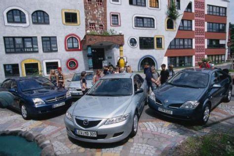 Mazda6 gegen Primera, Vectra und Laguna