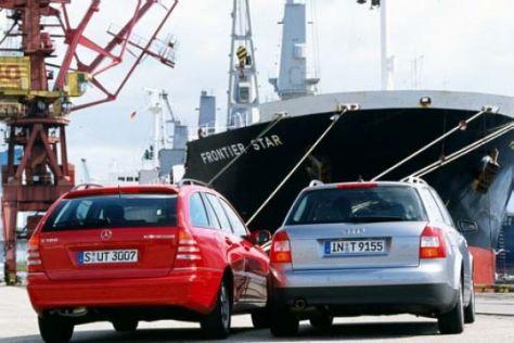 Audi A4 FSI gegen Mercedes C 180 Kompressor