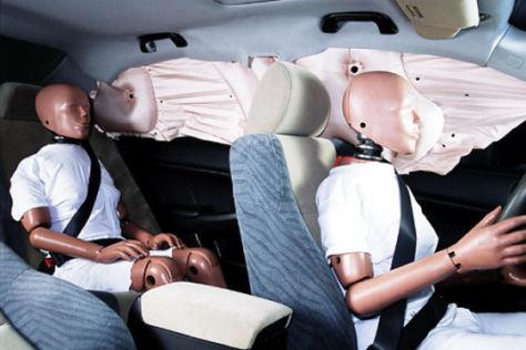 Neues Kopfairbagsystem von Honda