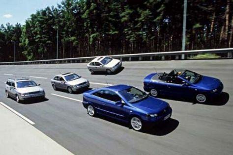 Opel Astra und Vectra Modellfamilien