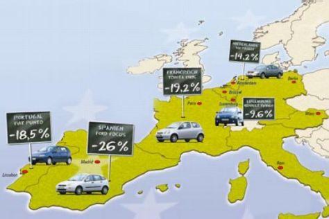 AUTO BILD-Special: Autopreise in Euroland