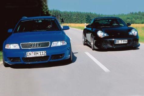 MTM Audi RS4 gegen Porsche 911 von Techart