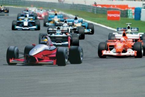 Erste Fahrt in einem Formel-1-Renner
