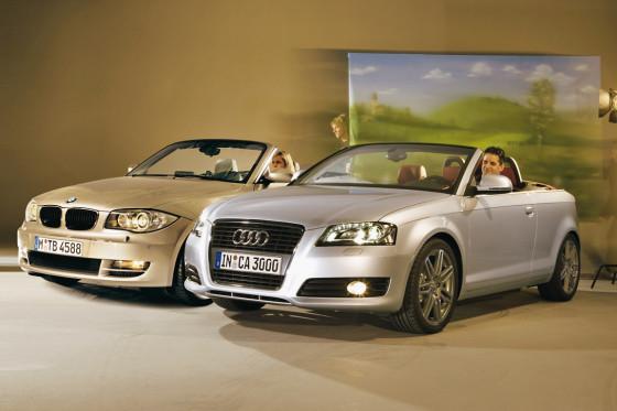 1er BMW Cabrio,  Audi A3 Cabrio