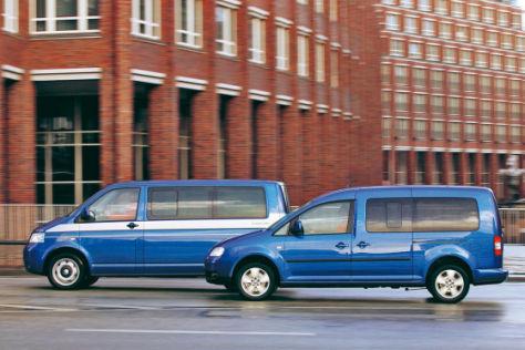 VW Caddy Maxi gegen Multivan