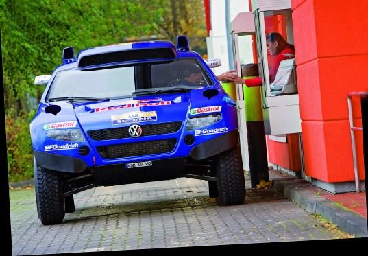 Race-Touareg beim Drive-In