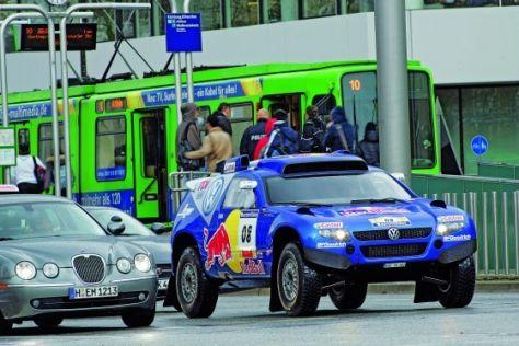 Race-Touareg im Stadtverkehr
