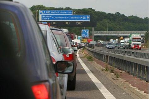 Autobahnstau in England