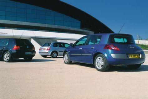 Renault Mégane II gegen Fiat Stilo und VW Golf