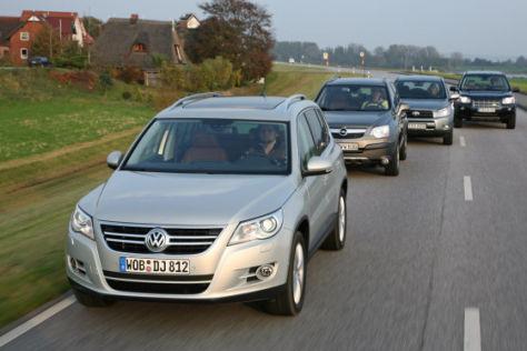 VW Tiguan 2.0 TDI Opel Antara 2.0 CDTI Toyota RAV4 2.2 D-4D Land Rover Freelander TD4