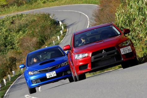 Mitsubishi Lancer Evo X Subaru Impreza WRX STi