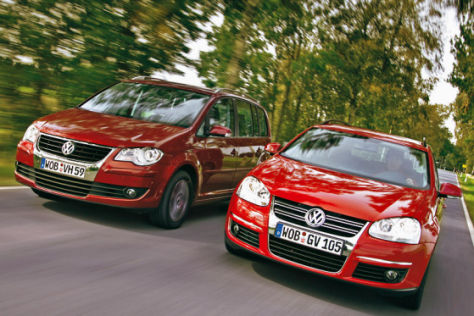VW Touran 1.4 TSI, VW Golf Variant 1.4 TSI