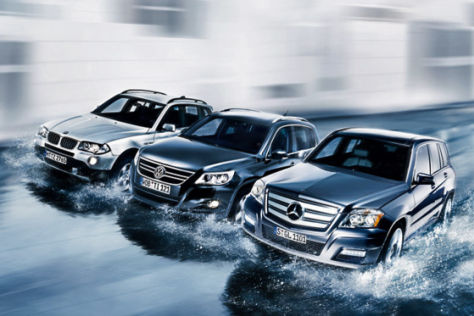 BMW X3, VW Tiguan, Mercedes-Benz GLK