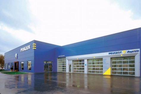 Einheits-Design für Peugeot-Autohäuser