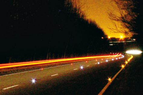 Leuchtdioden auf britschen Straßen
