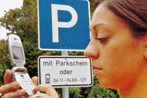 SMS statt Parkschein