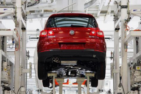 Produktion des VW Tiguan