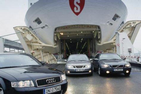 Audi A4 gegen Saab 9-3 und Volvo S60