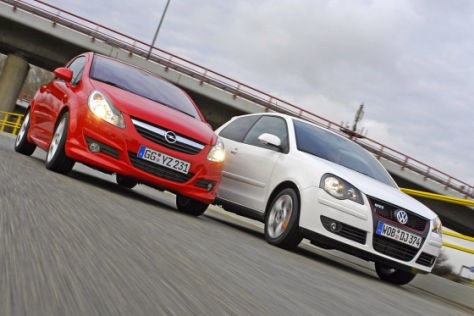Opel Corsa GSi VW Polo GTI