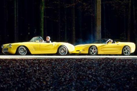 Geiger-Corvette von 1959 und 2002