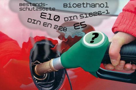 Kraftstoff E10 Bioethanol E5