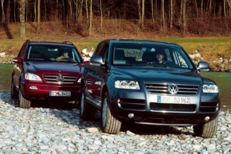 Mercedes ML 400 CDI, VW Touareg 5.0 V10 TDI