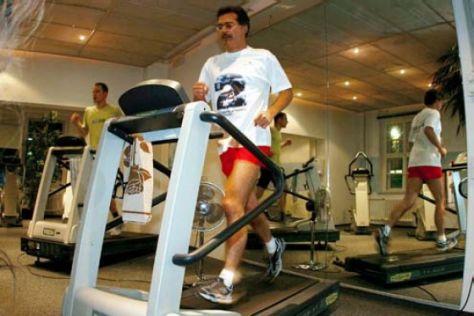 Fitnesstraining für BMWs Formel-1-Personal