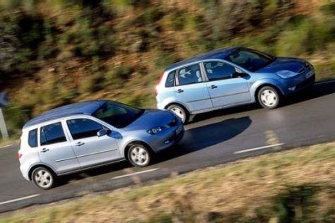 Mazda2 trifft Ford Fiesta