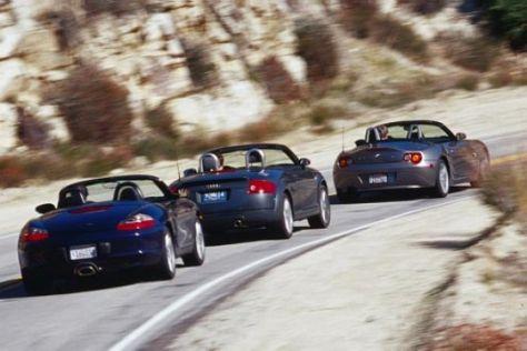 BMW Z4, Porsche Boxster und Audi TT
