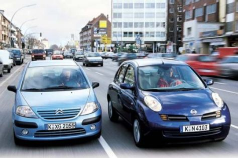 Citroën C3 1.4 gegen Nissan Micra 1.2